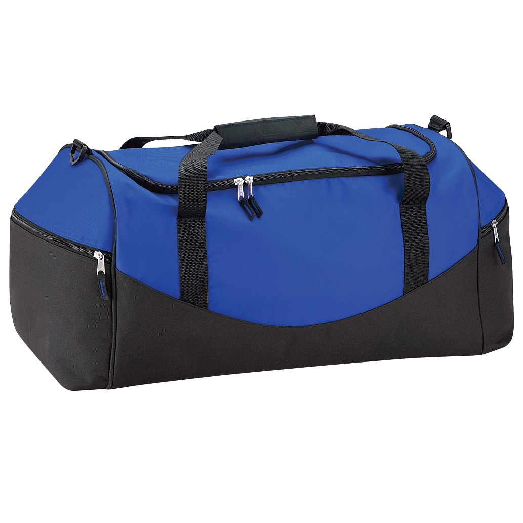 Quadra Teamwear Holdall Duffle Bag (55 Litres) (Pack of 2) (One Size) (Bright Royal/Black)