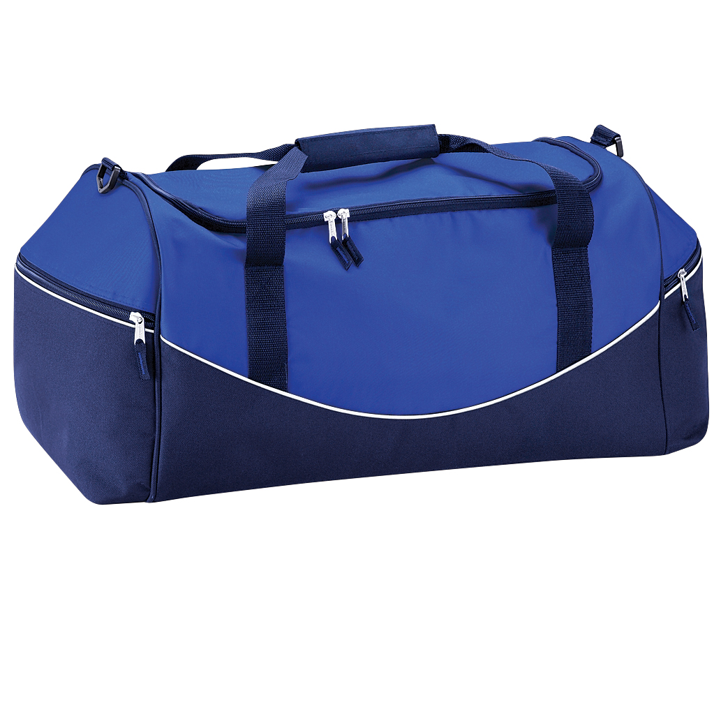 Quadra Teamwear Holdall Duffle Bag (55 Litres) (Pack of 2) (One Size) (Bright Royal/French Navy/White)