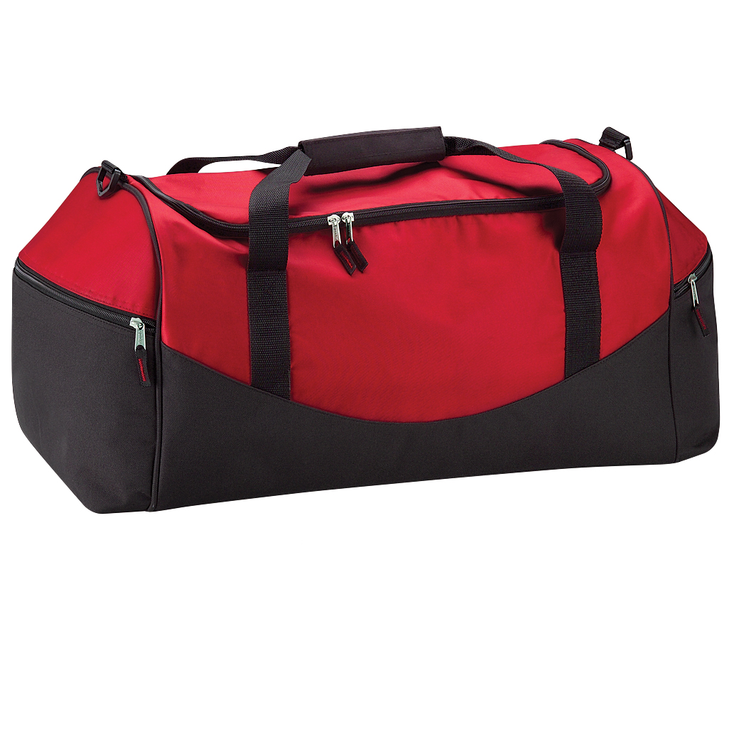 Quadra Teamwear Holdall Duffle Bag (55 Litres) (Pack of 2) (One Size) (Classic Red/Black)