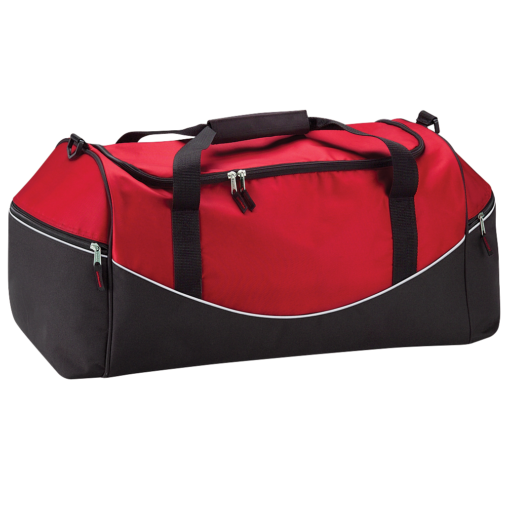 Quadra Teamwear Holdall Duffle Bag (55 Litres) (Pack of 2) (One Size) (Classic Red/Black/White)