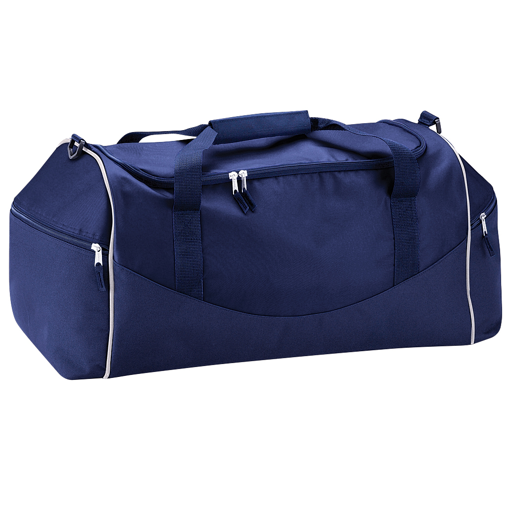 Quadra Teamwear Holdall Duffle Bag (55 Litres) (Pack of 2) (One Size) (French Navy/Putty)