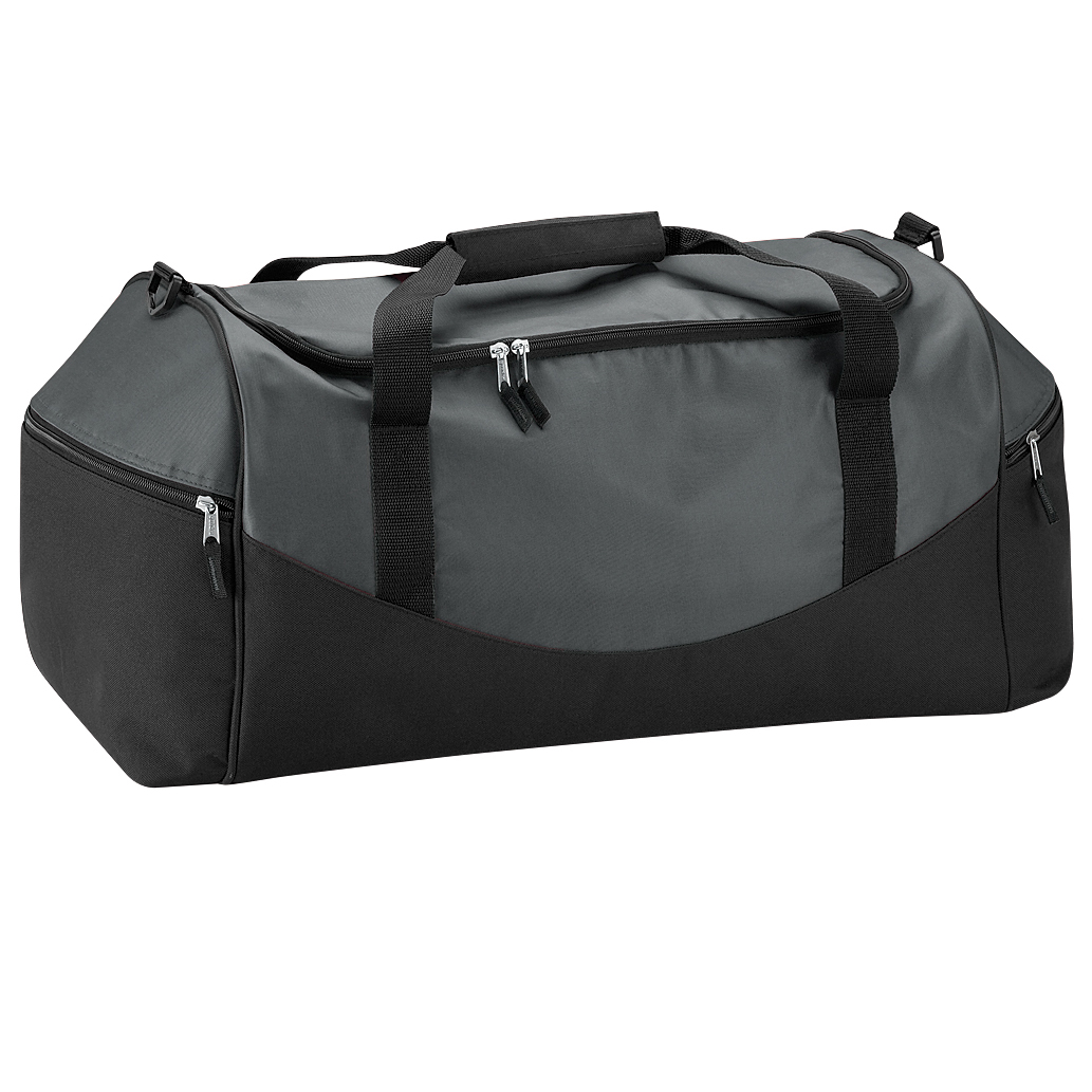Quadra Teamwear Holdall Duffle Bag (55 Litres) (Pack of 2) (One Size) (Graphite/Grey/Black)