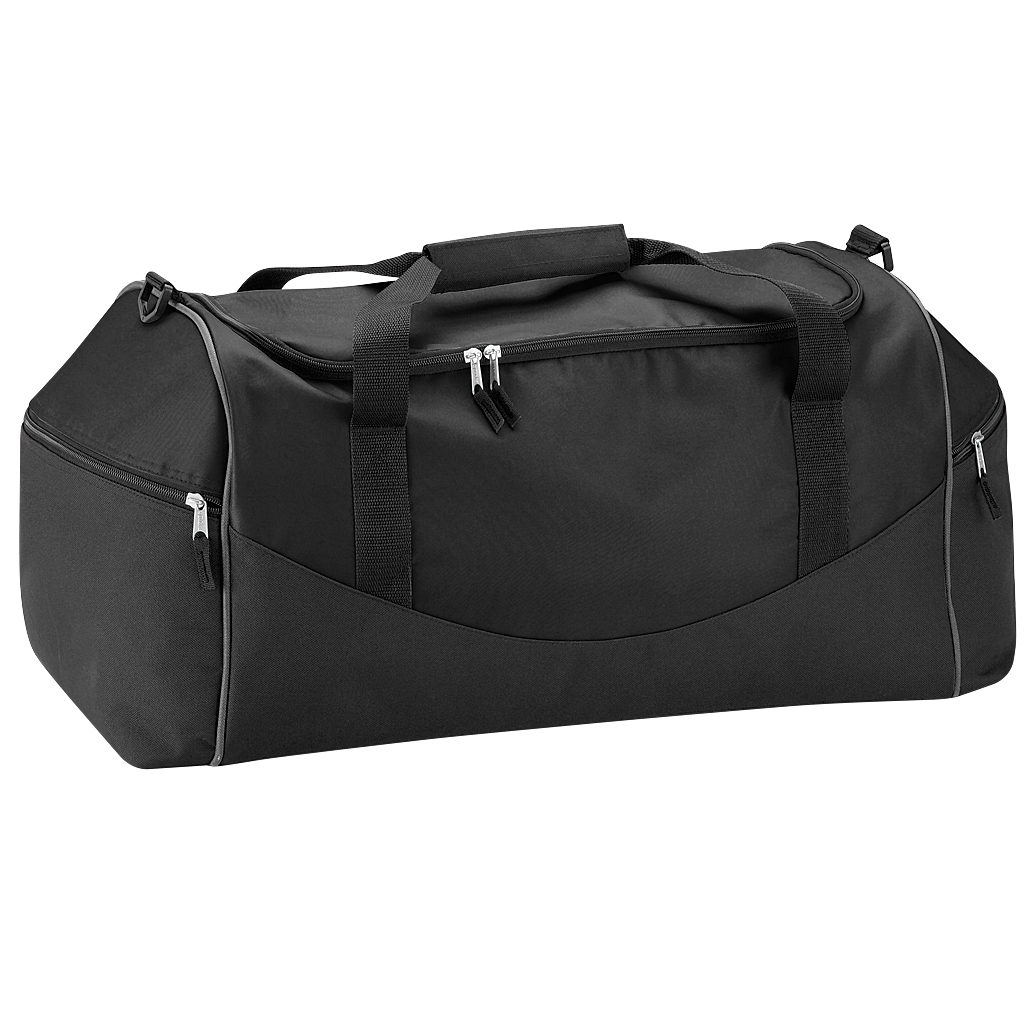 Quadra Teamwear Holdall Duffle Bag (55 Litres) (Pack of 2) (One Size) (Black/Graphite)