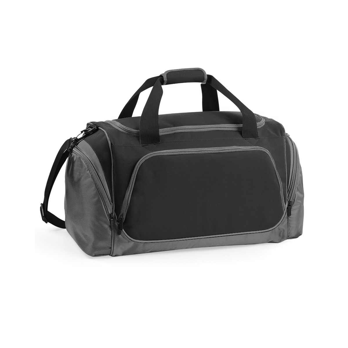 Quadra Pro Team Holdall / Duffle Bag (55 Litres) (Pack of 2) (One Size) (Black/ Grey)