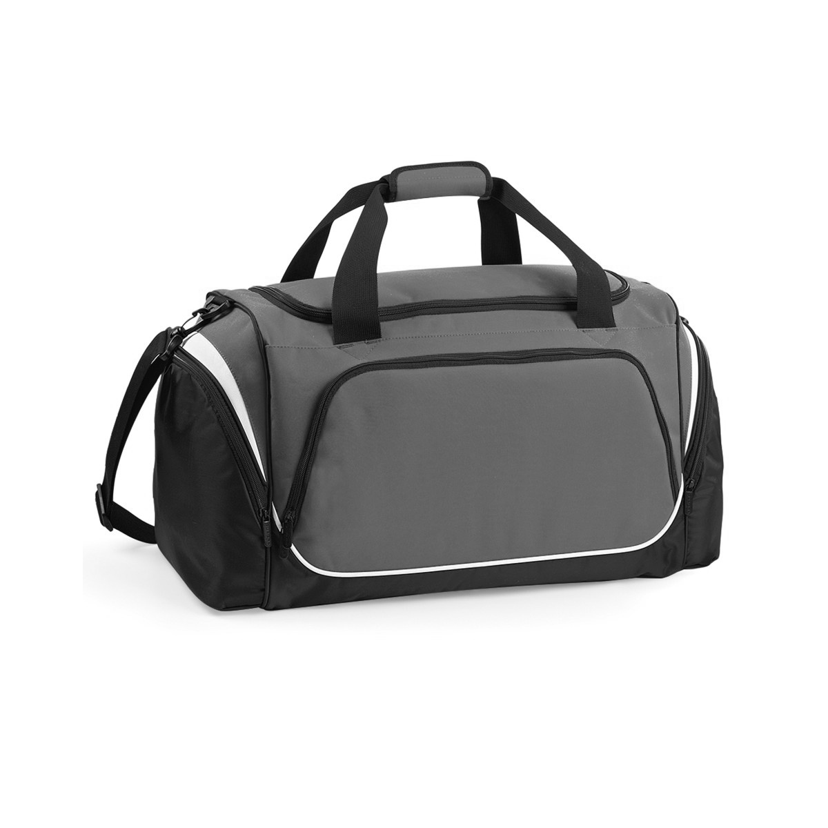Quadra Pro Team Holdall / Duffle Bag (55 Litres) (Pack of 2) (One Size) (Graphite/Black/White)