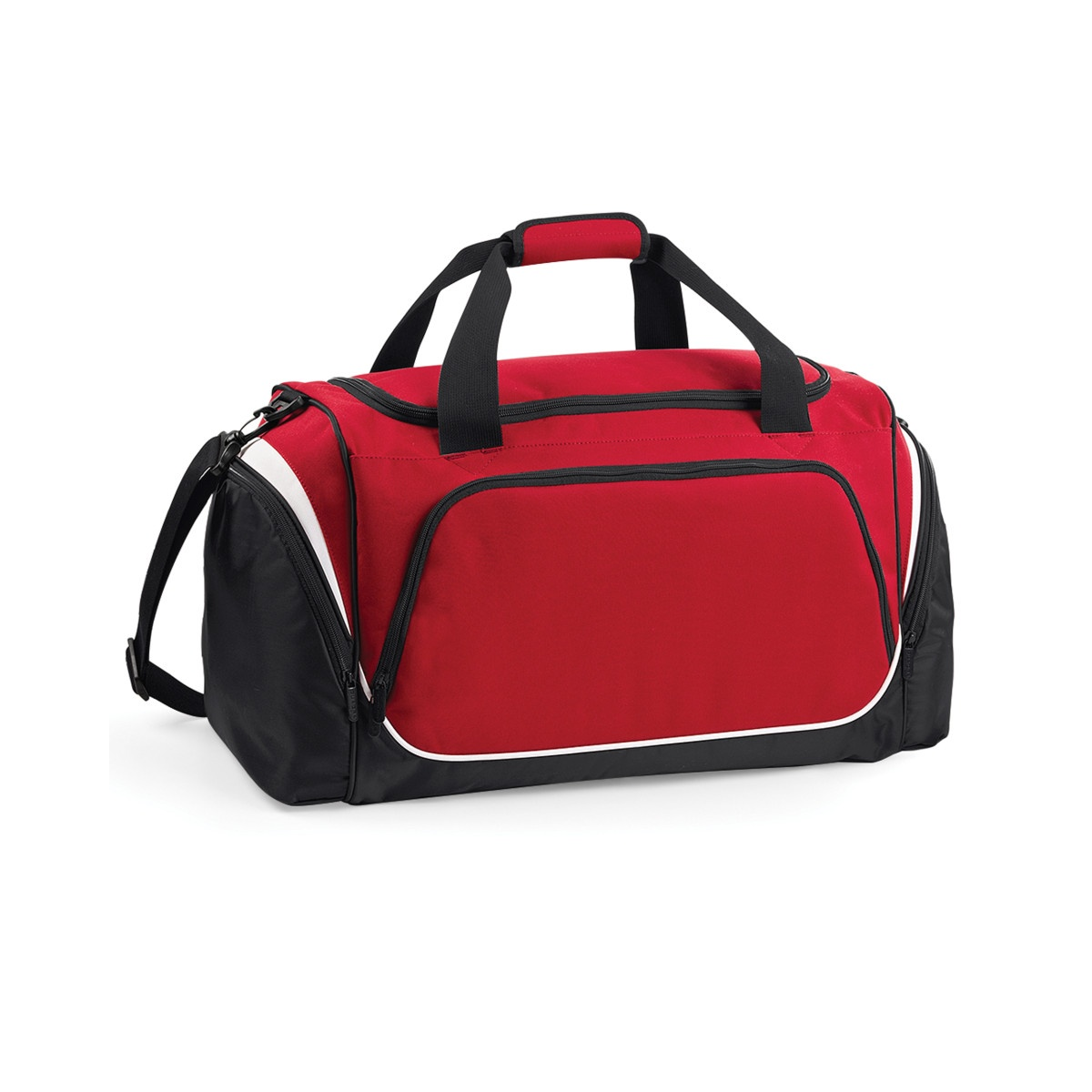 Quadra Pro Team Holdall / Duffle Bag (55 Litres) (Pack of 2) (One Size) (Classic Red/Black/White)