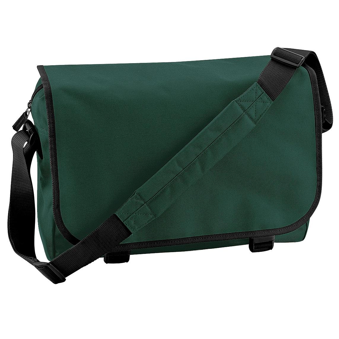 Bagbase Adjustable Messenger Bag (11 Litres) (Pack of 2) (One Size) (Bottle Green)