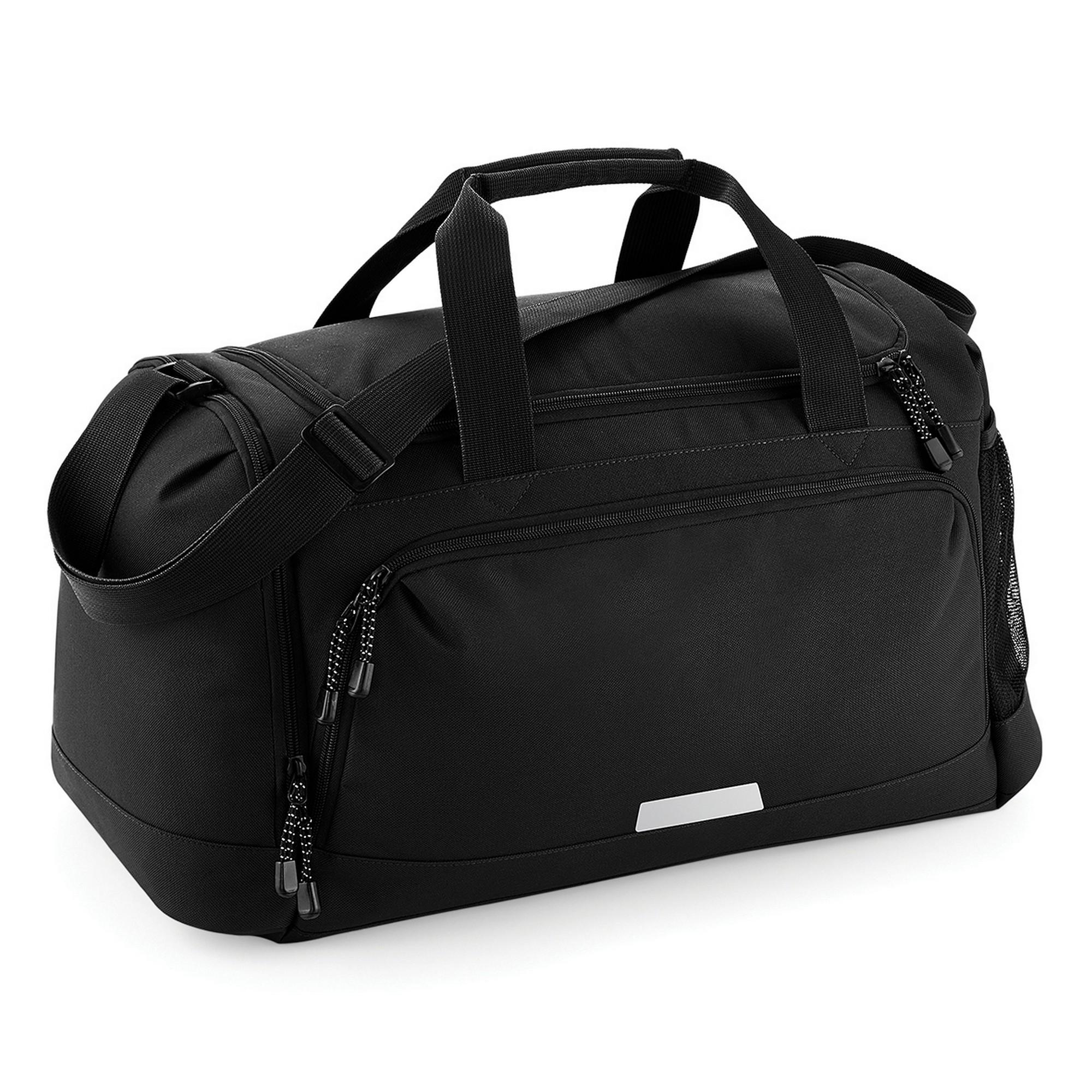 Quadra Academy Shoulder Strap Holdall Bag (Pack of 2) (One Size) (Black)