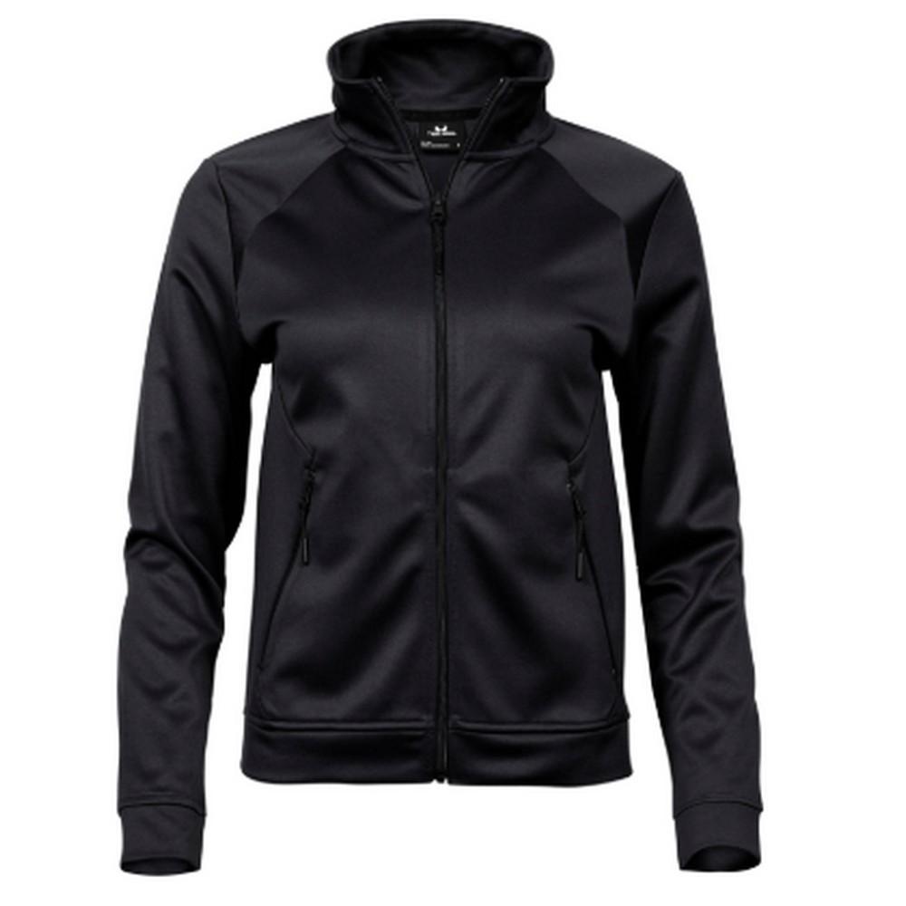 Tee Jays Womens/Ladies Performance Zip Sweat Jacket (L) (Black)