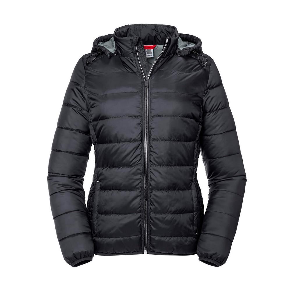 Russell Womens/Ladies Ladies Hooded Nano Jacket (XL) (Black)