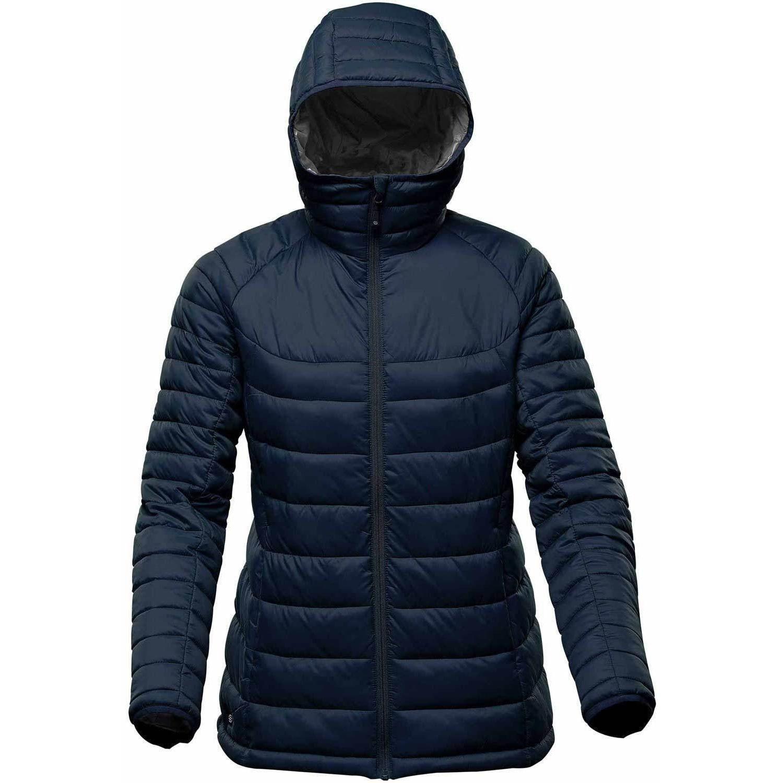 Stormtech Womens/Ladies Stavanger Thermal Padded Jacket (S) (Navy/Dark Graphite)