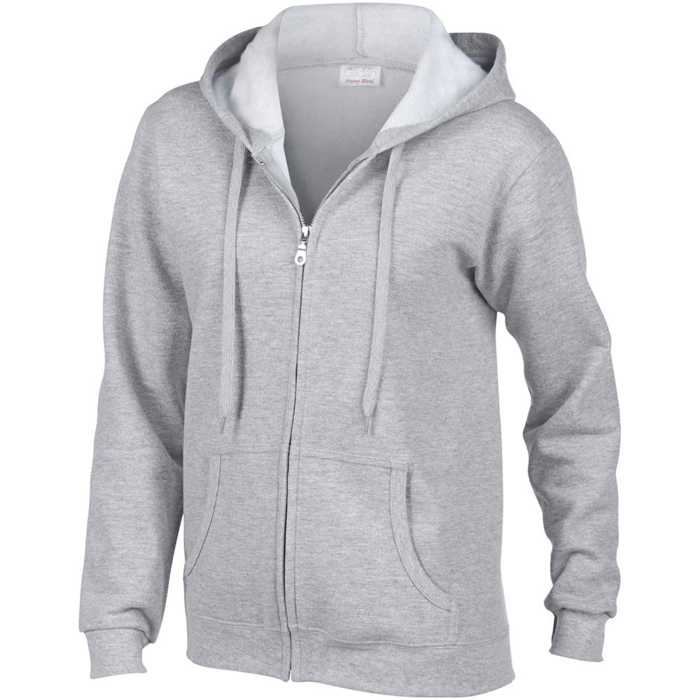Unisex Gildan Kids Zipped Hooded Sweatshirt-Heavy Blend-Full Zip Hoodie MEDIUM