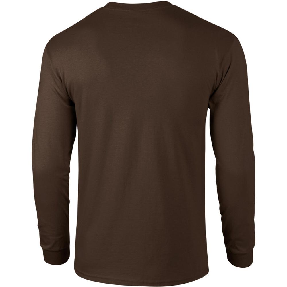 miniature 34 - T-shirt-uni-a-manches-longues-Gildan-100-coton-pour-homme-S-2XL-BC477