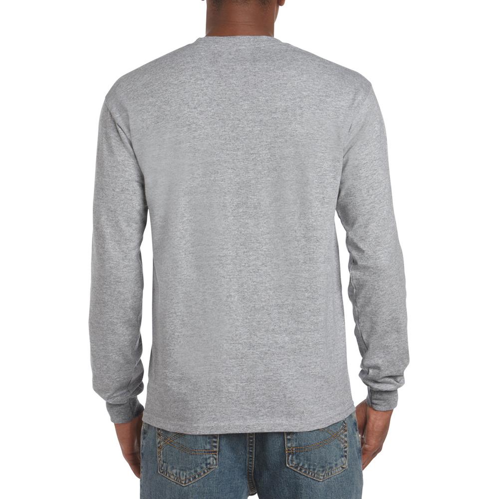 miniature 56 - T-shirt-uni-a-manches-longues-Gildan-100-coton-pour-homme-S-2XL-BC477
