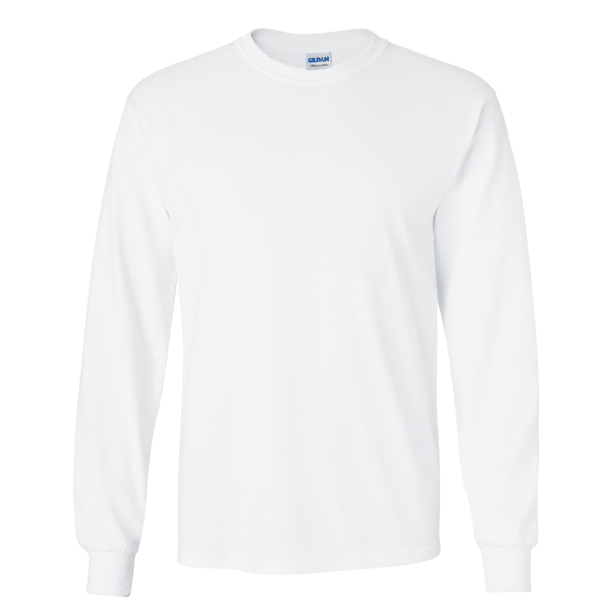 miniature 11 - T-shirt-uni-a-manches-longues-Gildan-100-coton-pour-homme-S-2XL-BC477