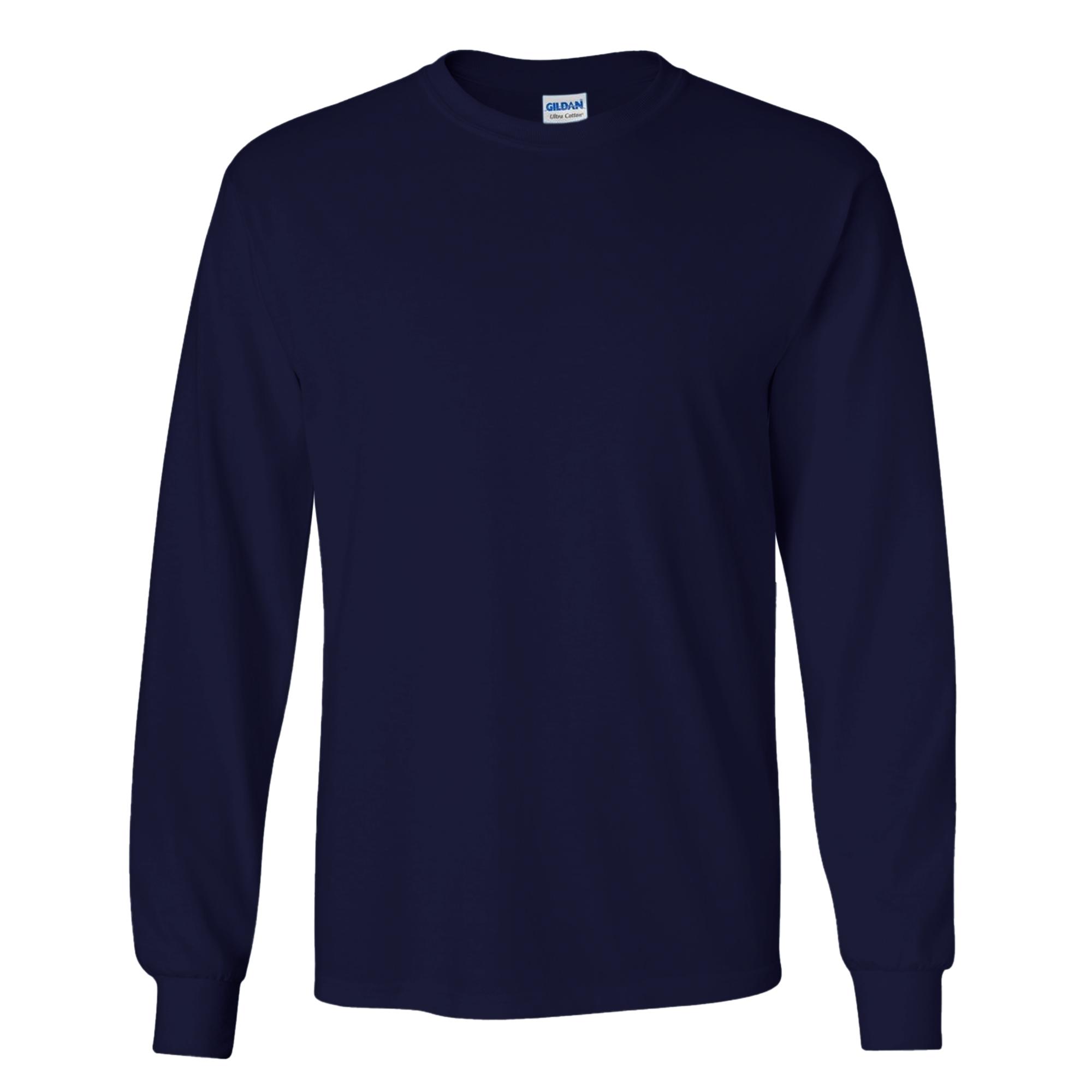 miniature 86 - T-shirt-uni-a-manches-longues-Gildan-100-coton-pour-homme-S-2XL-BC477