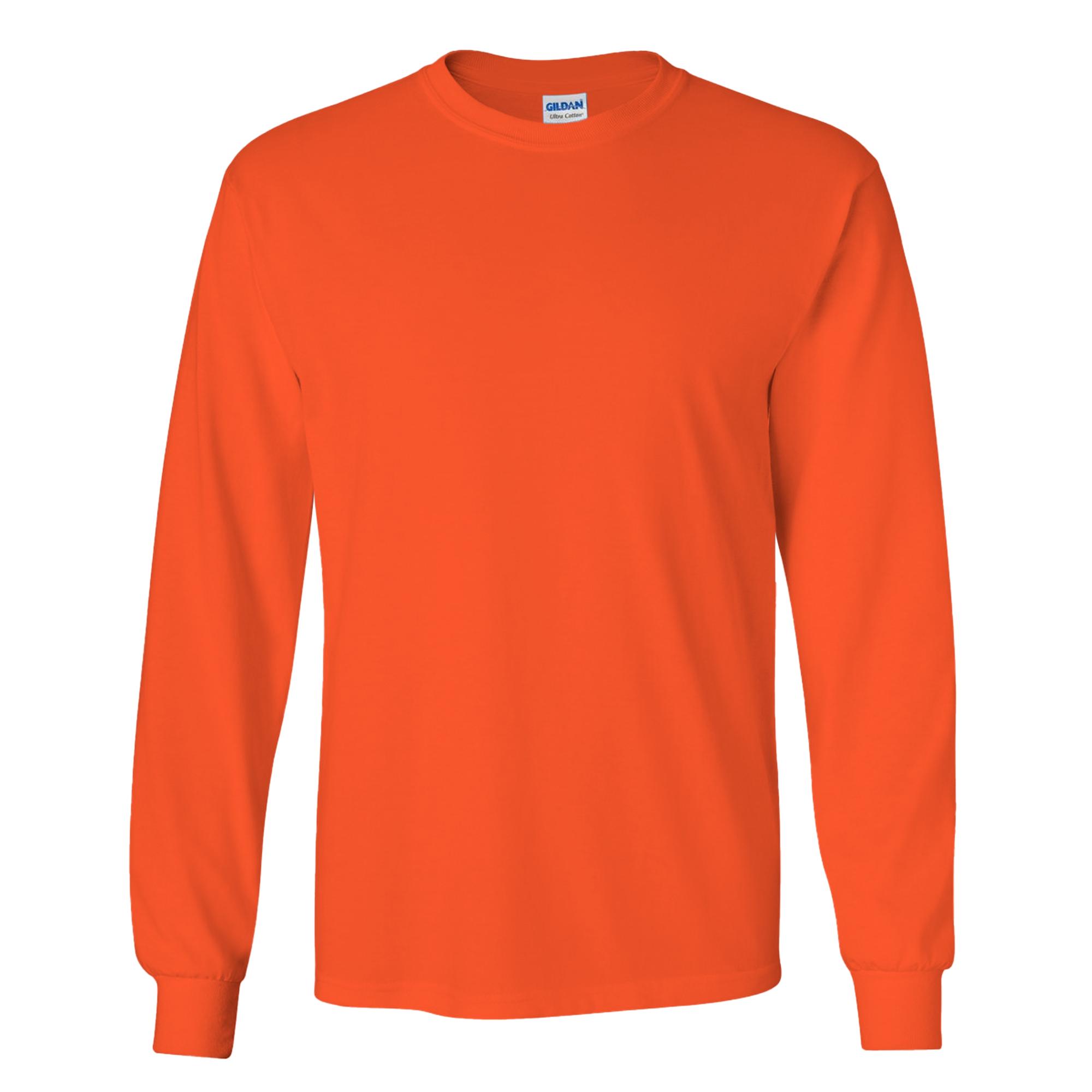 miniature 88 - T-shirt-uni-a-manches-longues-Gildan-100-coton-pour-homme-S-2XL-BC477