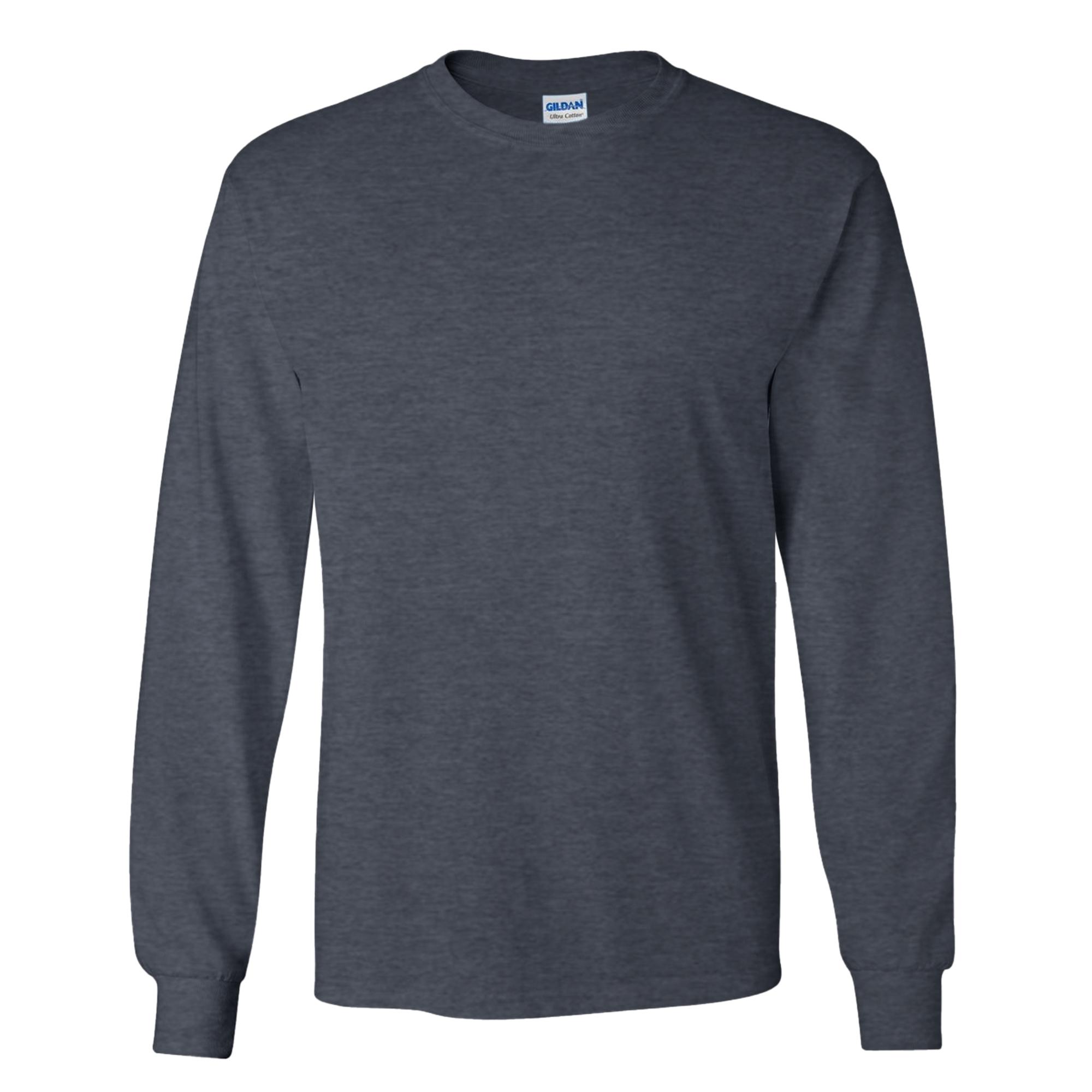 miniature 35 - T-shirt-uni-a-manches-longues-Gildan-100-coton-pour-homme-S-2XL-BC477