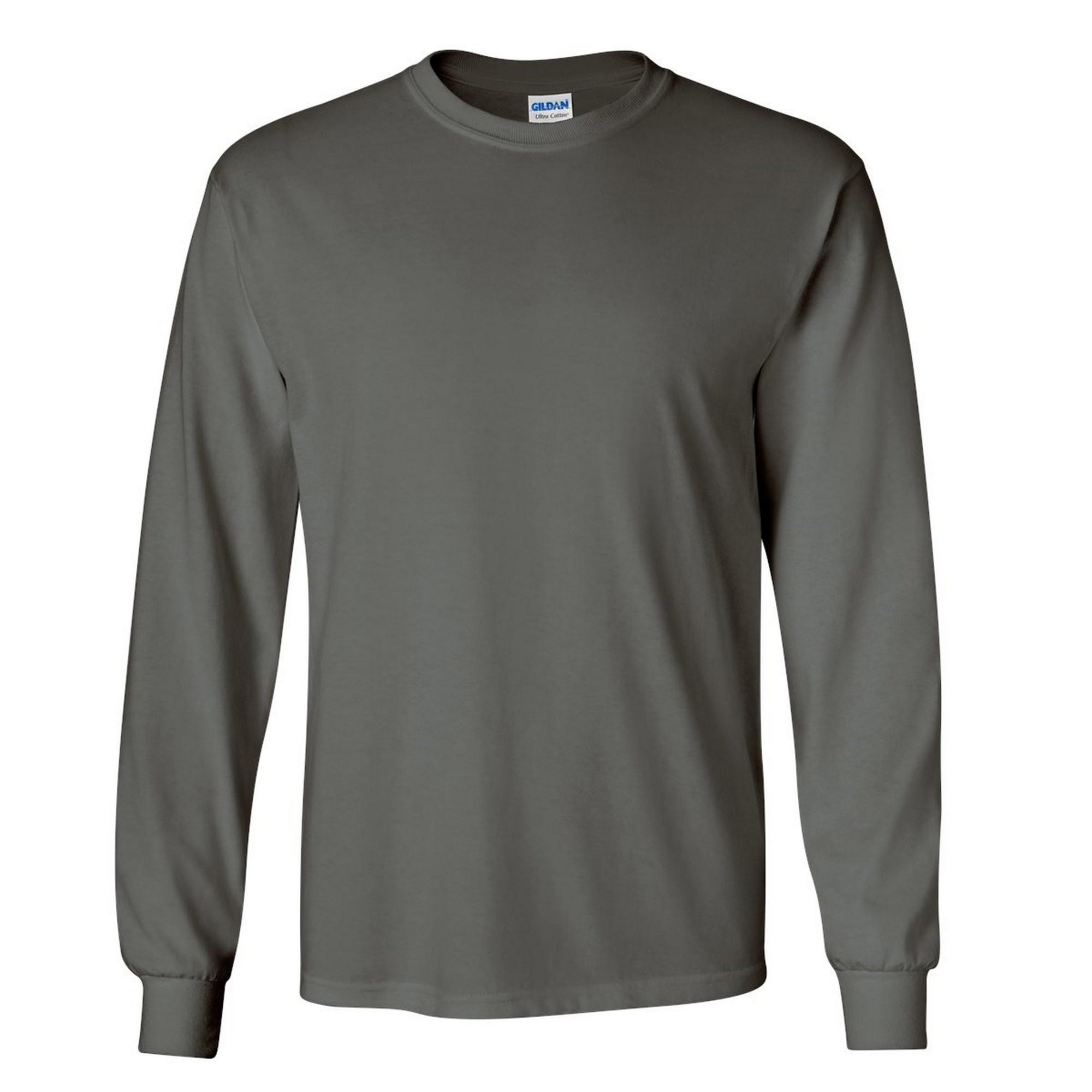 miniature 98 - T-shirt-uni-a-manches-longues-Gildan-100-coton-pour-homme-S-2XL-BC477
