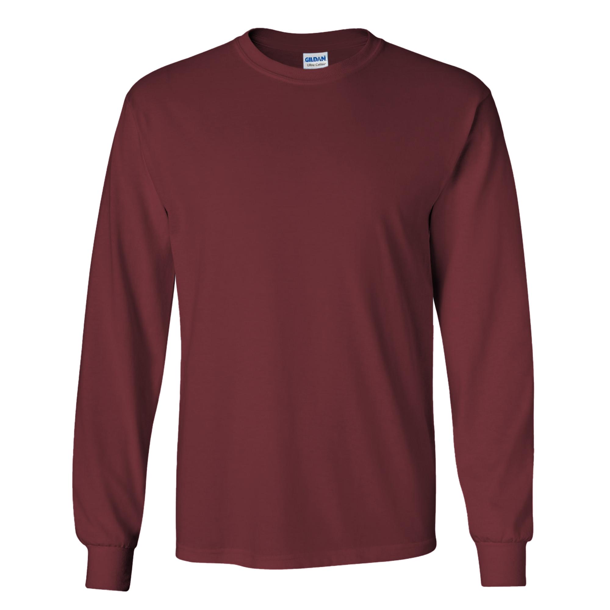 miniature 100 - T-shirt-uni-a-manches-longues-Gildan-100-coton-pour-homme-S-2XL-BC477