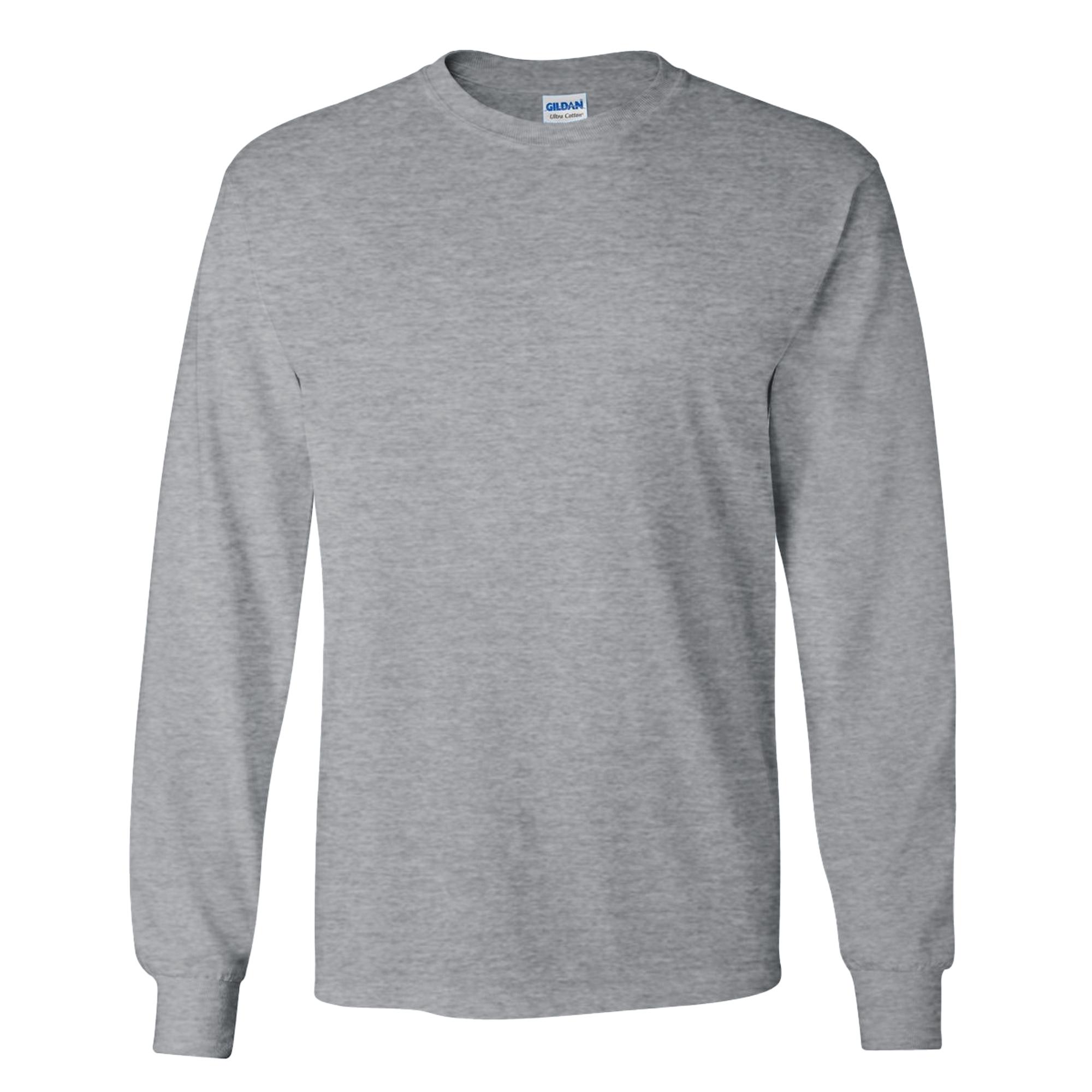 miniature 102 - T-shirt-uni-a-manches-longues-Gildan-100-coton-pour-homme-S-2XL-BC477