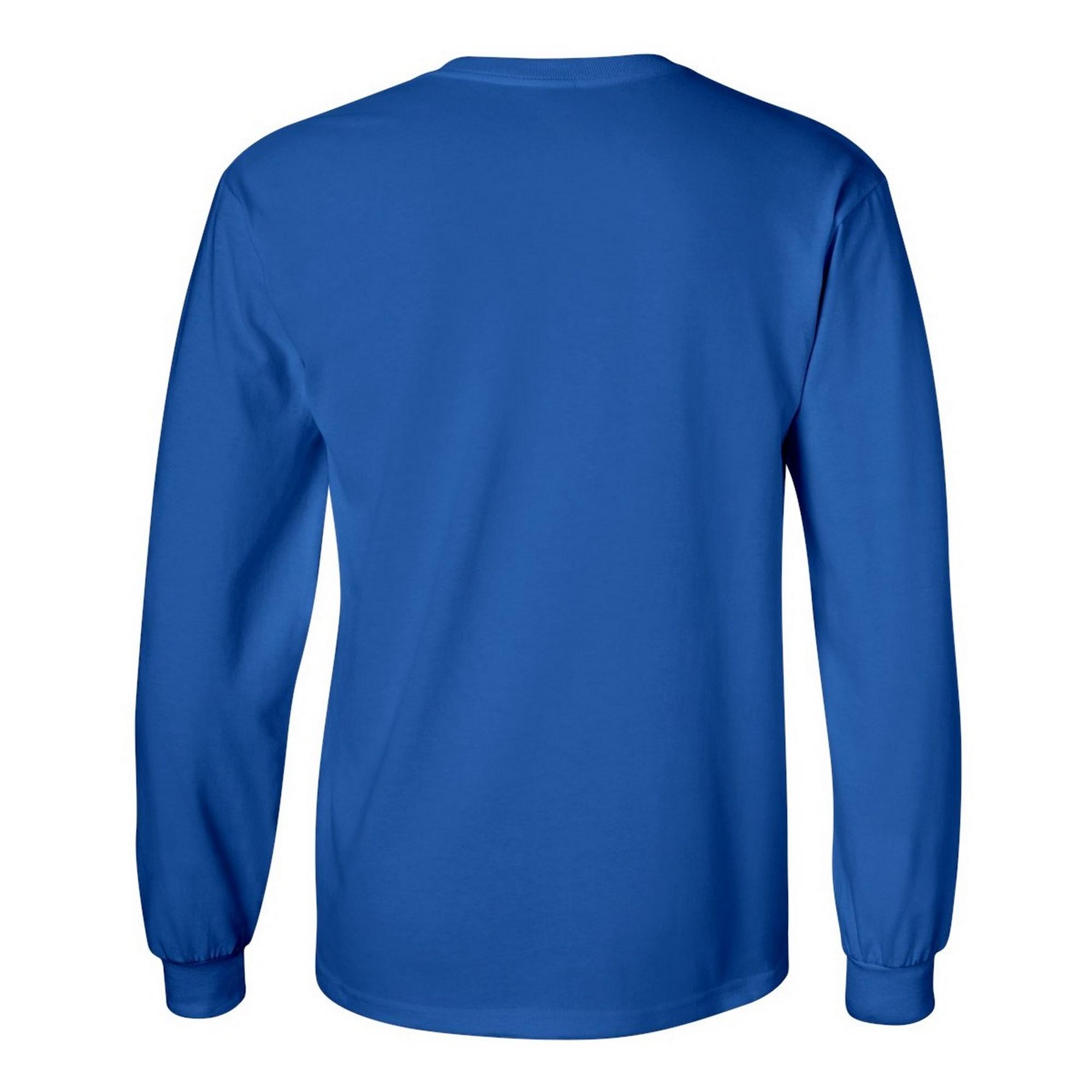miniature 70 - T-shirt-uni-a-manches-longues-Gildan-100-coton-pour-homme-S-2XL-BC477