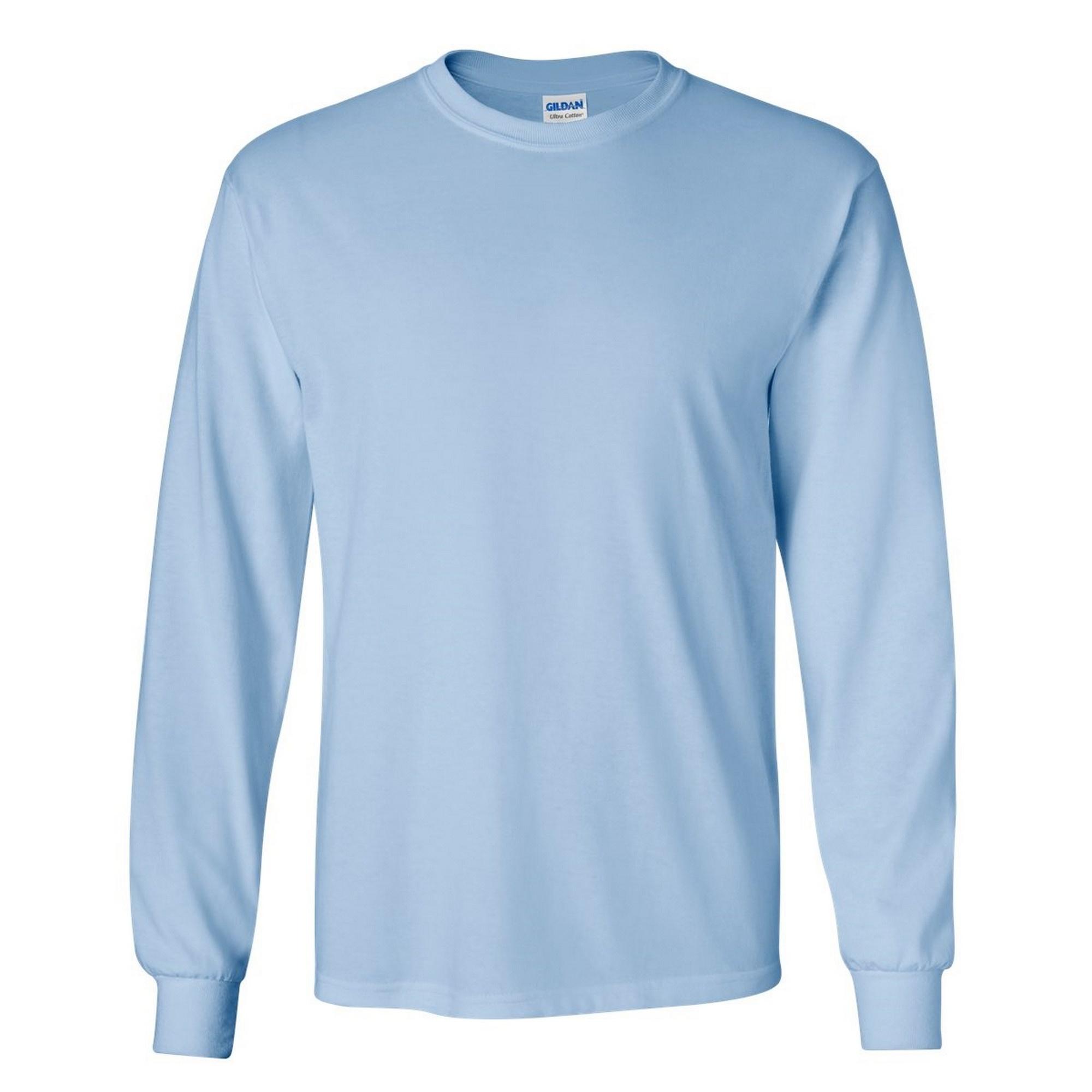 miniature 71 - T-shirt-uni-a-manches-longues-Gildan-100-coton-pour-homme-S-2XL-BC477