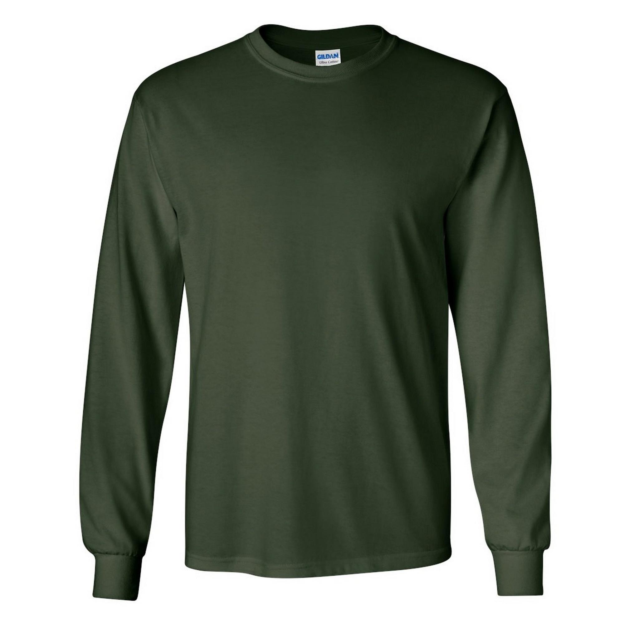 miniature 73 - T-shirt-uni-a-manches-longues-Gildan-100-coton-pour-homme-S-2XL-BC477