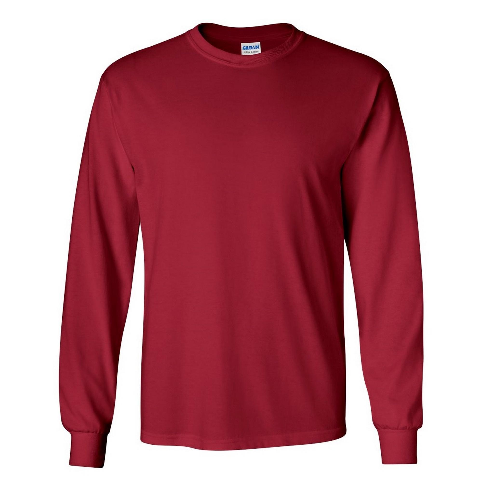 miniature 75 - T-shirt-uni-a-manches-longues-Gildan-100-coton-pour-homme-S-2XL-BC477