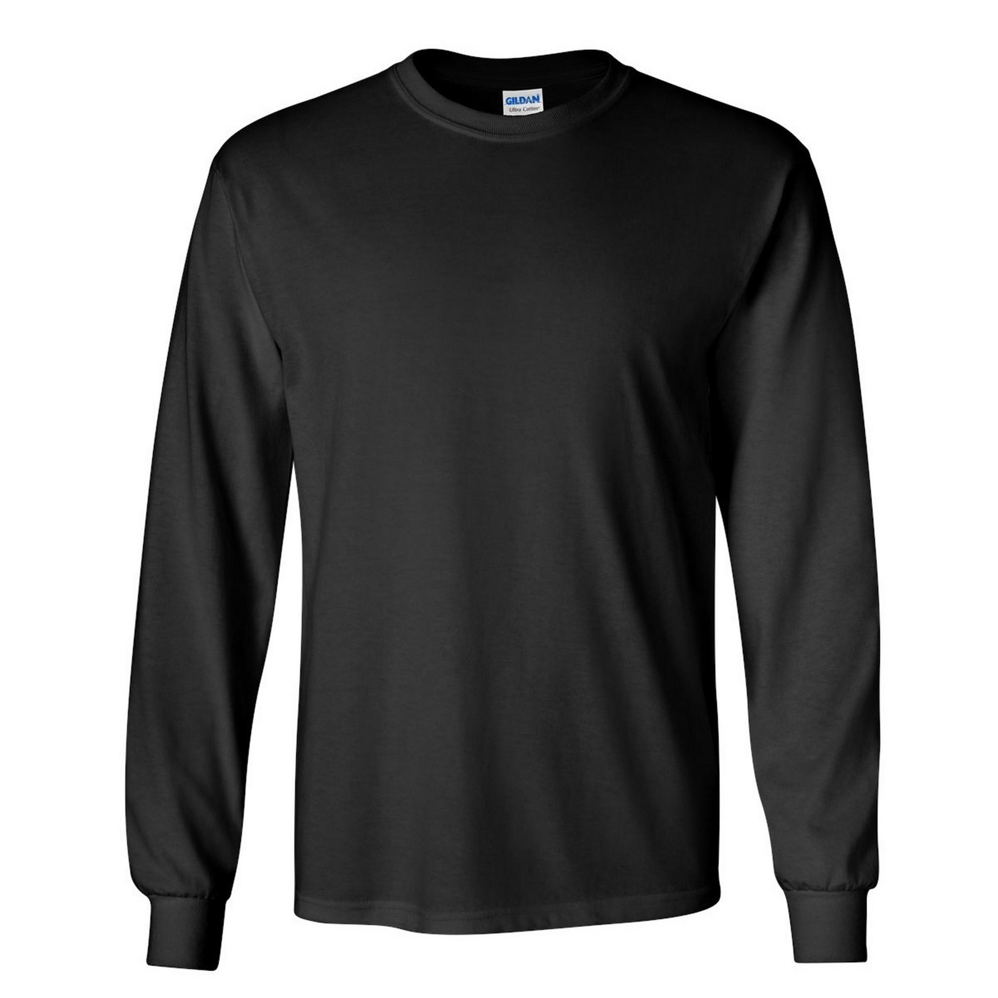 miniature 77 - T-shirt-uni-a-manches-longues-Gildan-100-coton-pour-homme-S-2XL-BC477