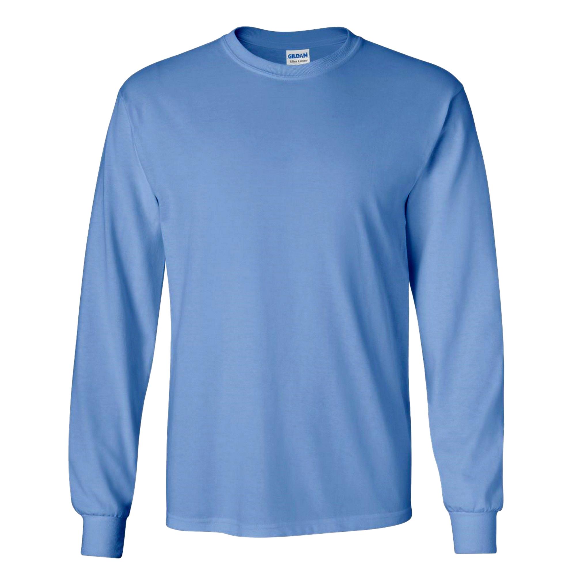 miniature 37 - T-shirt-uni-a-manches-longues-Gildan-100-coton-pour-homme-S-2XL-BC477