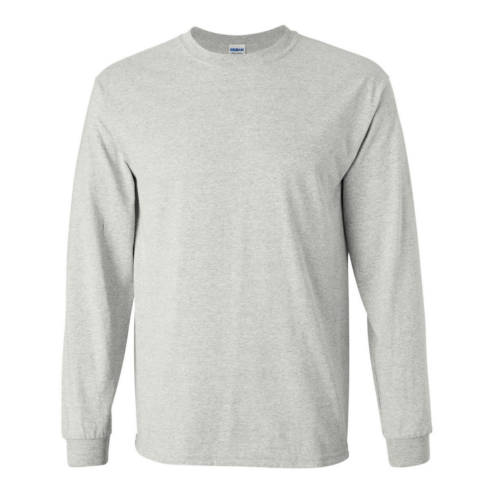 miniature 62 - T-shirt-uni-a-manches-longues-Gildan-100-coton-pour-homme-S-2XL-BC477