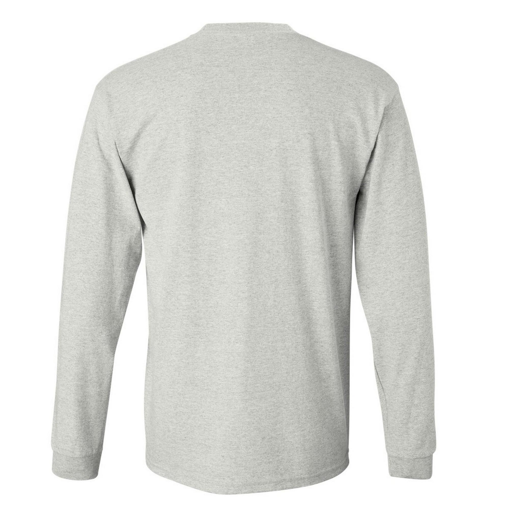 miniature 63 - T-shirt-uni-a-manches-longues-Gildan-100-coton-pour-homme-S-2XL-BC477