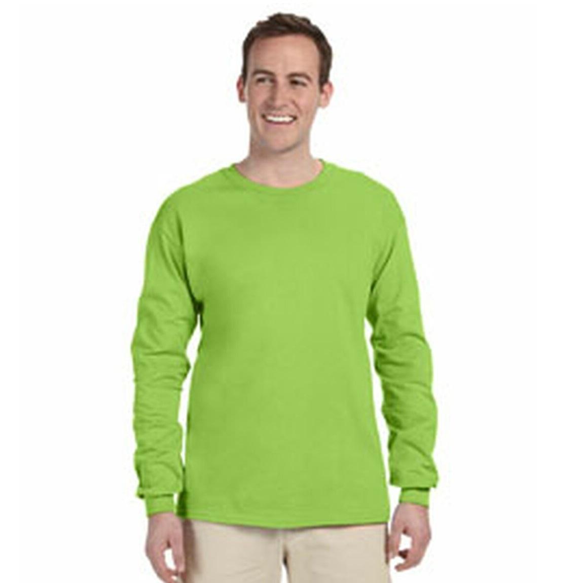 miniature 3 - T-shirt-uni-a-manches-longues-Gildan-100-coton-pour-homme-S-2XL-BC477