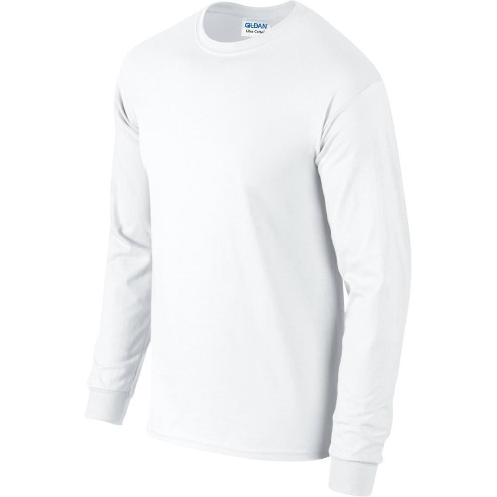 miniature 4 - T-shirt-uni-a-manches-longues-Gildan-100-coton-pour-homme-S-2XL-BC477