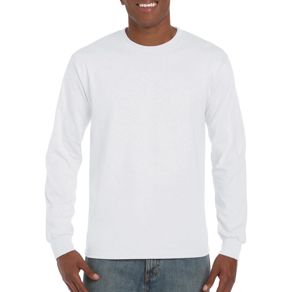miniature 5 - T-shirt-uni-a-manches-longues-Gildan-100-coton-pour-homme-S-2XL-BC477
