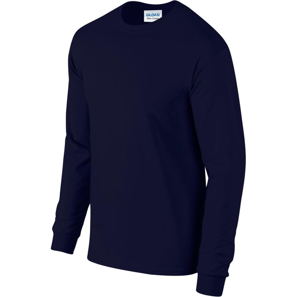 miniature 19 - T-shirt-uni-a-manches-longues-Gildan-100-coton-pour-homme-S-2XL-BC477