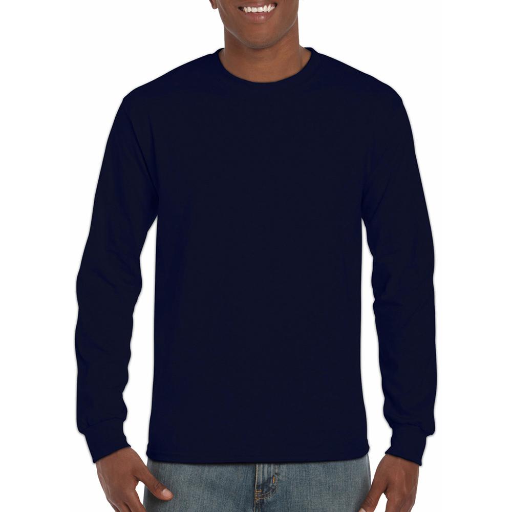 miniature 20 - T-shirt-uni-a-manches-longues-Gildan-100-coton-pour-homme-S-2XL-BC477