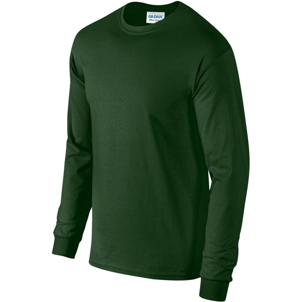 miniature 91 - T-shirt-uni-a-manches-longues-Gildan-100-coton-pour-homme-S-2XL-BC477