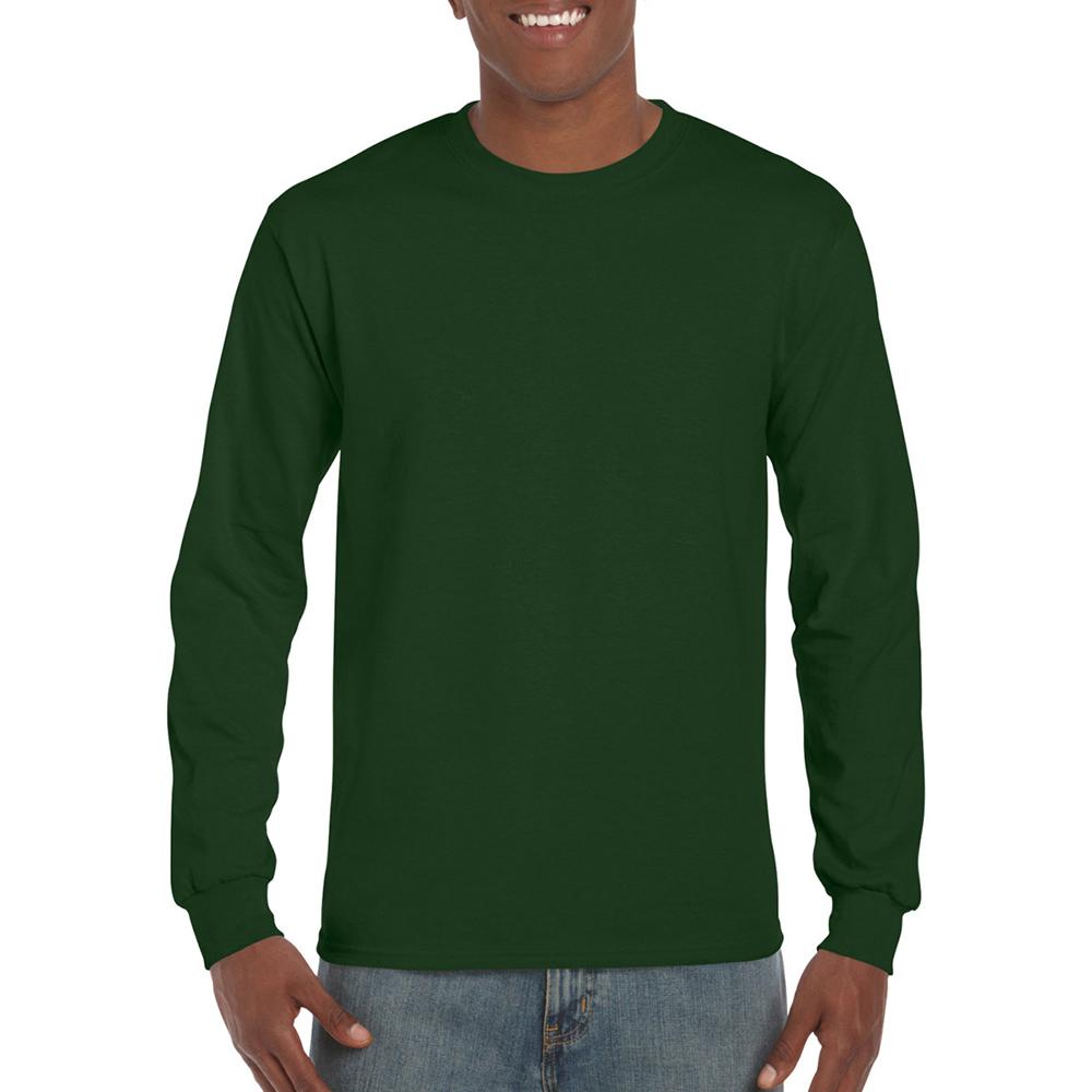 miniature 92 - T-shirt-uni-a-manches-longues-Gildan-100-coton-pour-homme-S-2XL-BC477