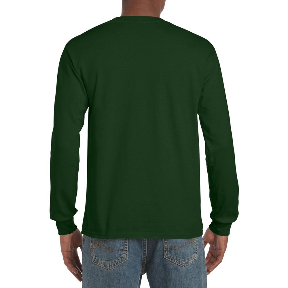 miniature 93 - T-shirt-uni-a-manches-longues-Gildan-100-coton-pour-homme-S-2XL-BC477
