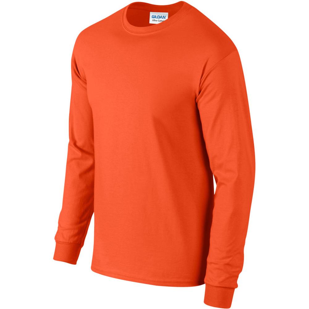 miniature 66 - T-shirt-uni-a-manches-longues-Gildan-100-coton-pour-homme-S-2XL-BC477