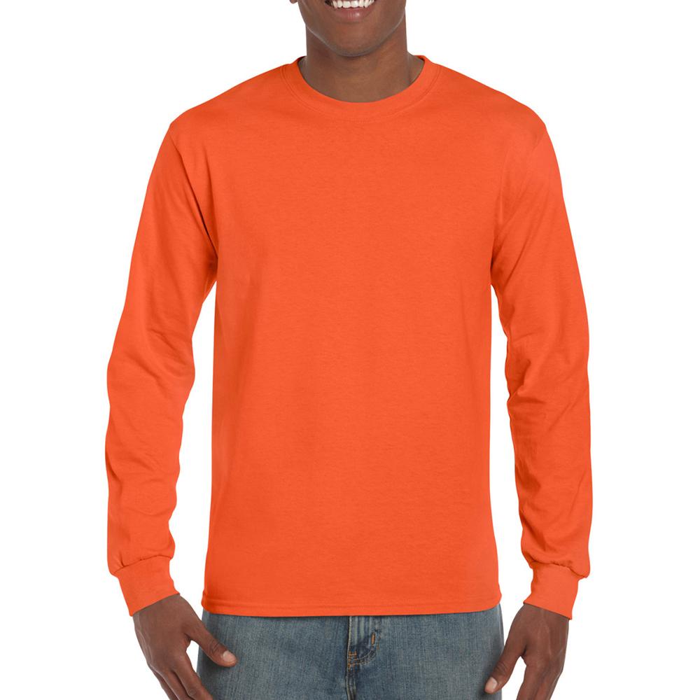 miniature 67 - T-shirt-uni-a-manches-longues-Gildan-100-coton-pour-homme-S-2XL-BC477