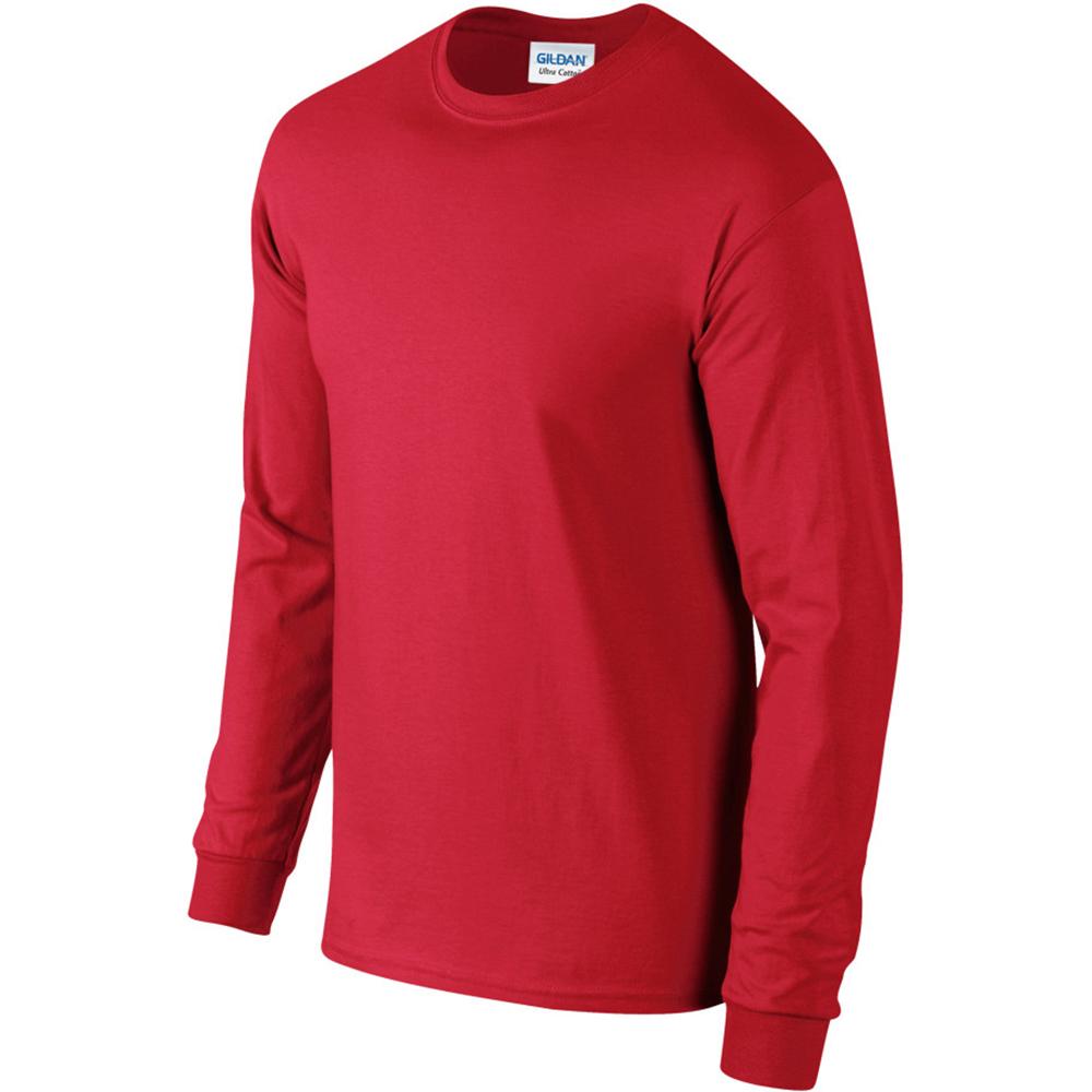miniature 81 - T-shirt-uni-a-manches-longues-Gildan-100-coton-pour-homme-S-2XL-BC477