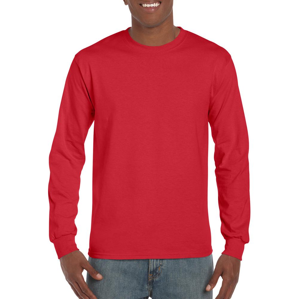 miniature 82 - T-shirt-uni-a-manches-longues-Gildan-100-coton-pour-homme-S-2XL-BC477