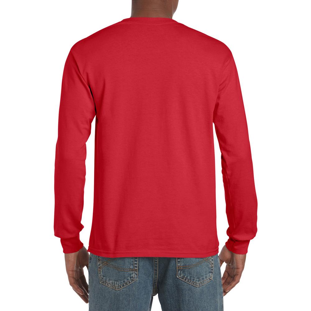 miniature 83 - T-shirt-uni-a-manches-longues-Gildan-100-coton-pour-homme-S-2XL-BC477