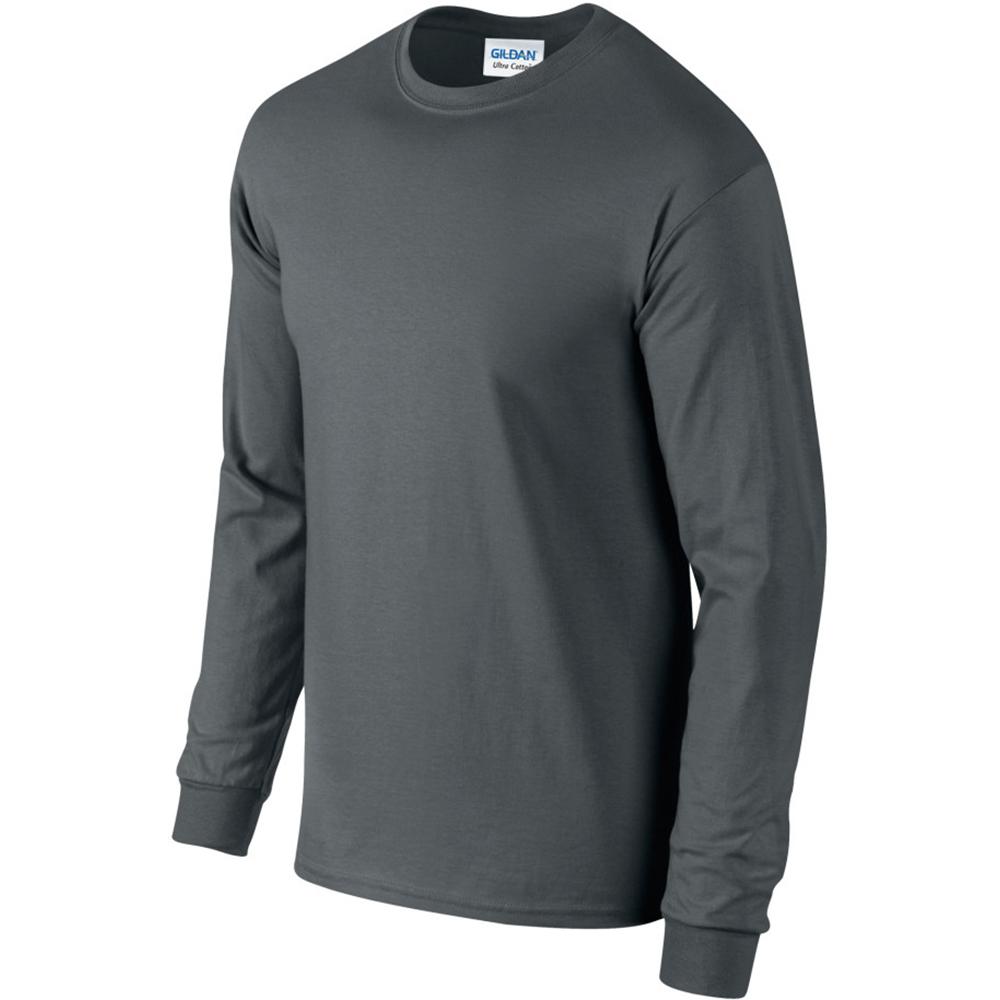 miniature 49 - T-shirt-uni-a-manches-longues-Gildan-100-coton-pour-homme-S-2XL-BC477