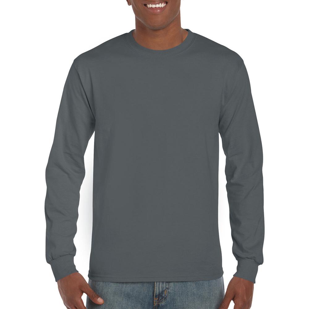 miniature 50 - T-shirt-uni-a-manches-longues-Gildan-100-coton-pour-homme-S-2XL-BC477