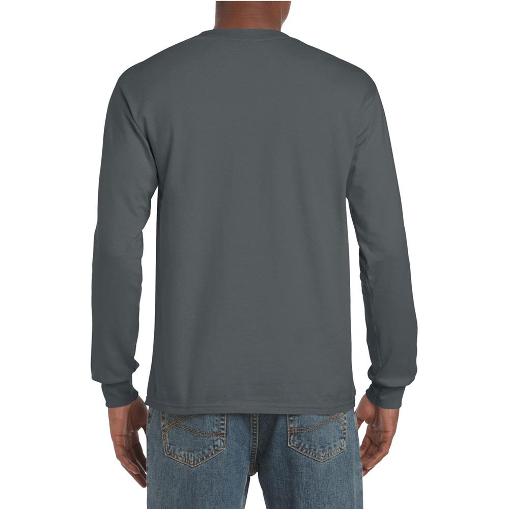 miniature 51 - T-shirt-uni-a-manches-longues-Gildan-100-coton-pour-homme-S-2XL-BC477