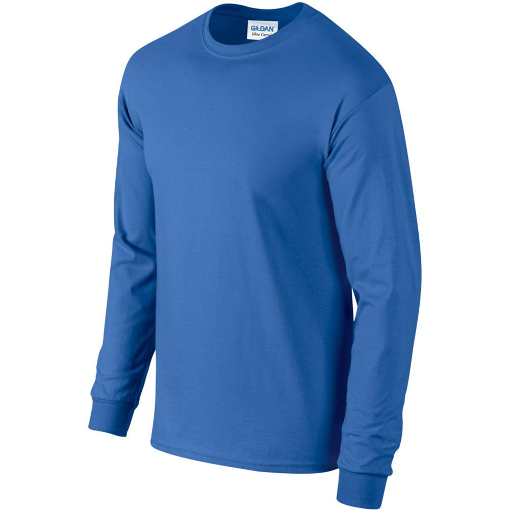 miniature 24 - T-shirt-uni-a-manches-longues-Gildan-100-coton-pour-homme-S-2XL-BC477